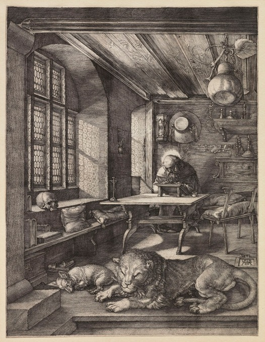 Durer's engraving of St. Jerome