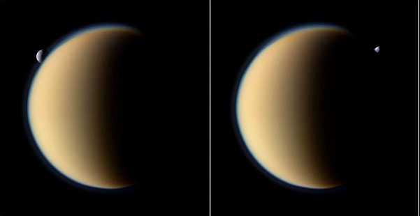 Another two of Saturn's moons,