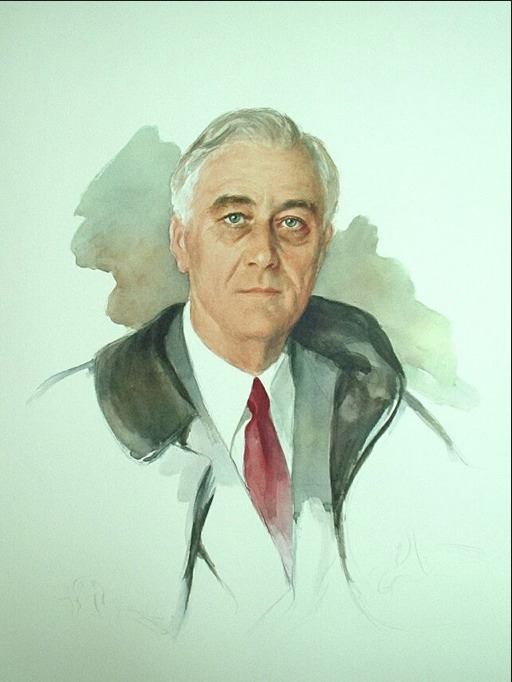 FDR - Elizabeth Shoumatoff's unfinished portrait