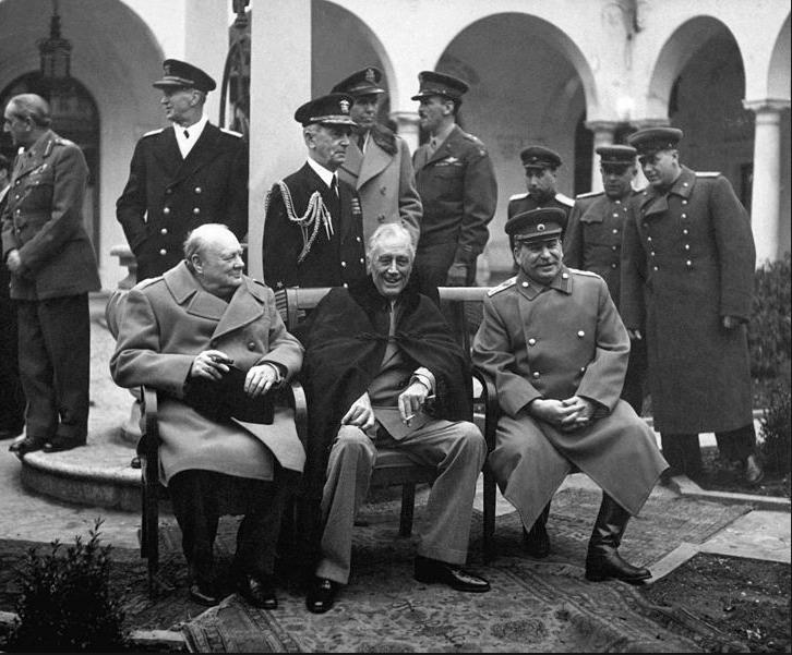 FDR, Churchill and Stalin at Yalta