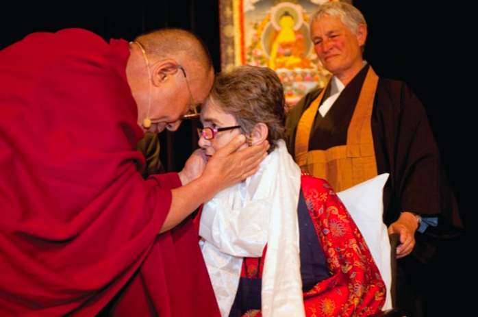 Grace with Dalai Lama