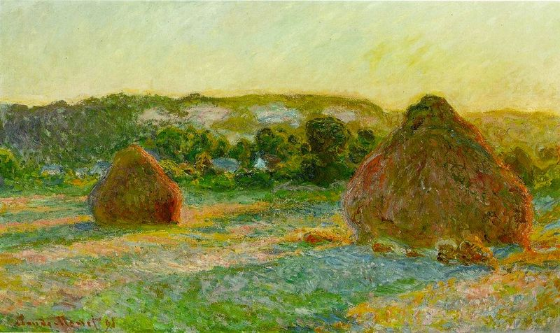 Monet's wheatstacks