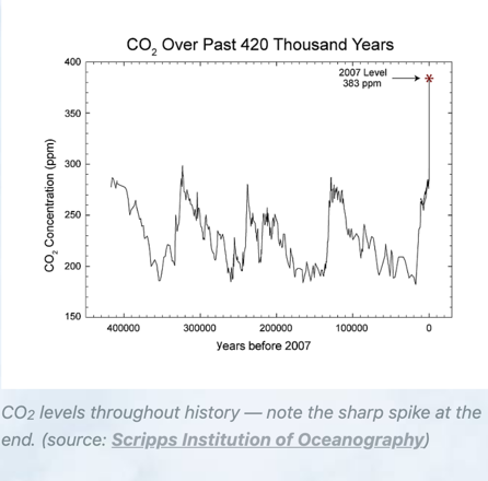 CO2 levels throughout history